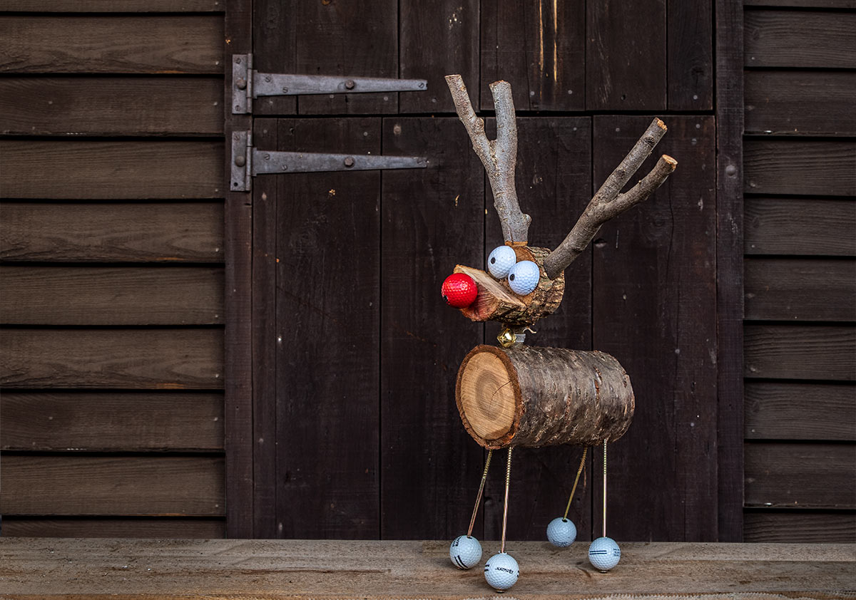 Rudolf the Wooden Reindeer