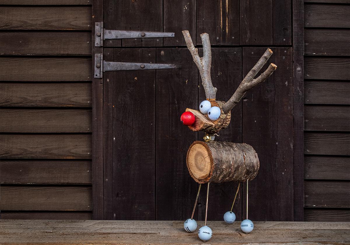 Rudolf the Wooden Reindeer